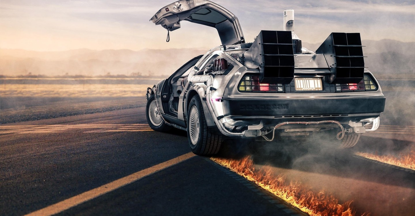 Back to the Future backdrop 1