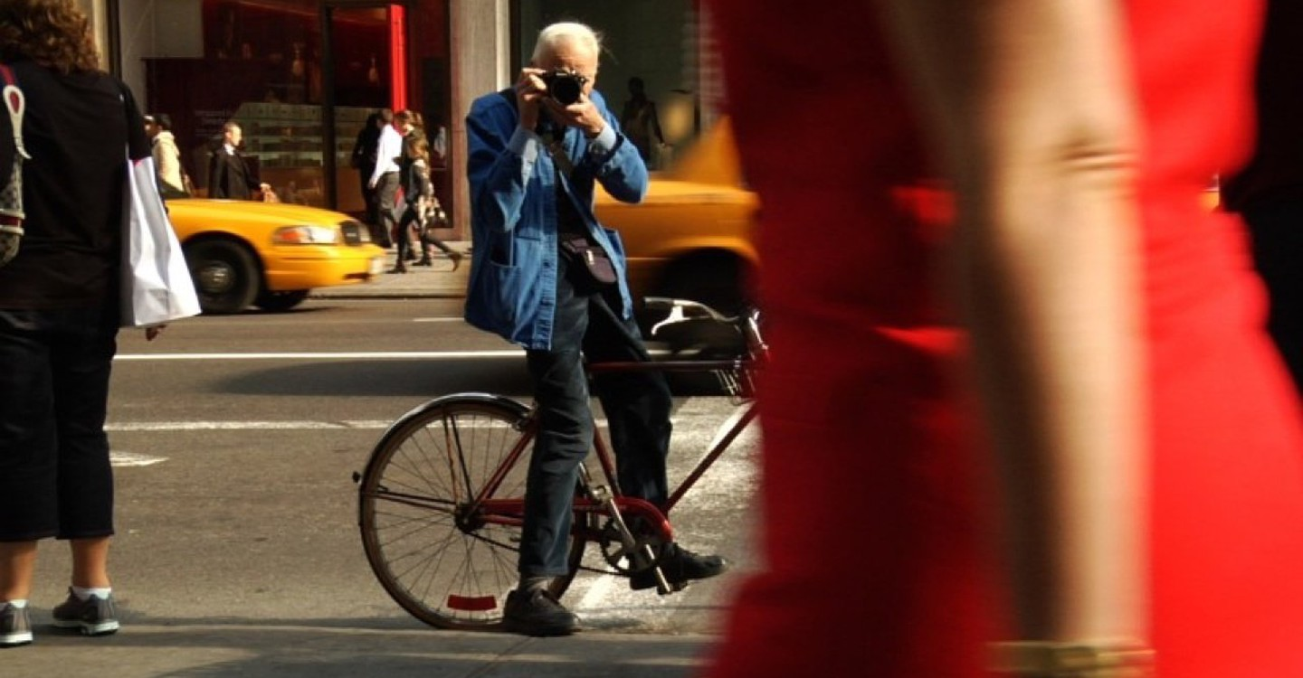 Bill Cunningham New York backdrop 1