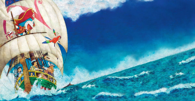 Doraemon in un avventuroso viaggio verso il Mar dei Caraibi backdrop 1