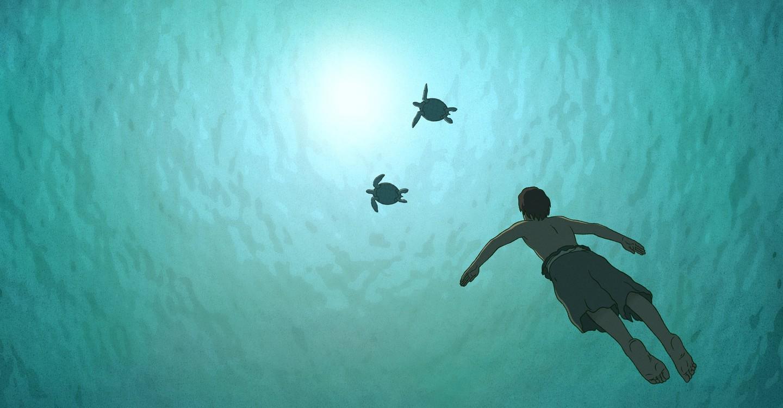 Die rote Schildkröte backdrop 1