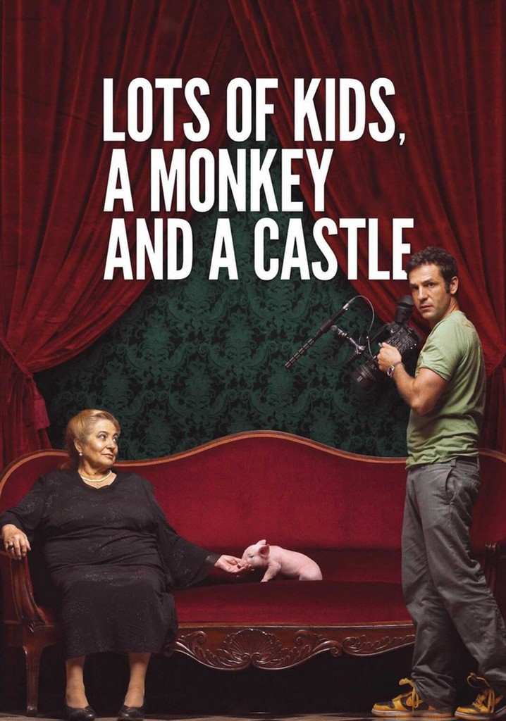 Lots of Kids, a Monkey and a Castle