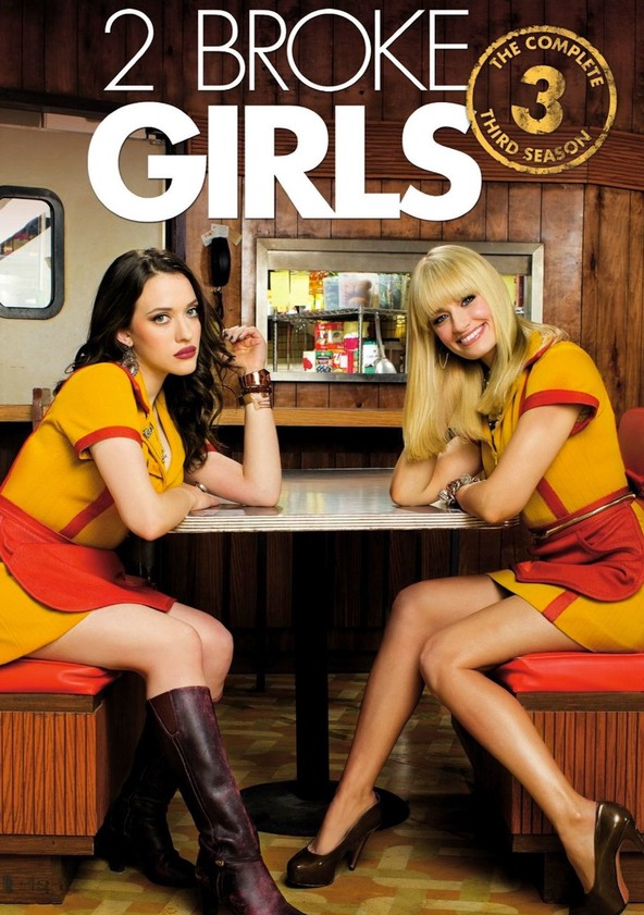 2 Broke Girls Season 3 poster