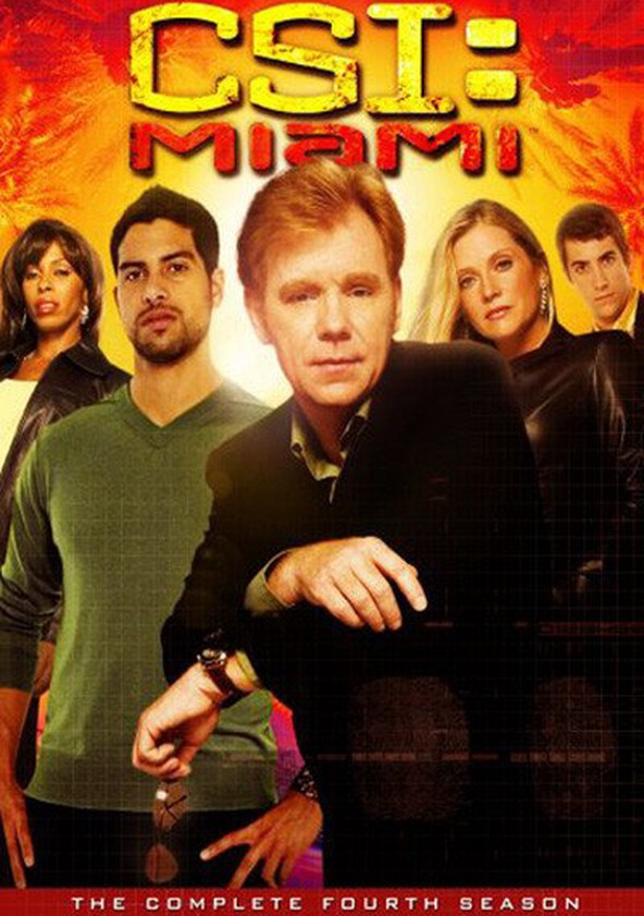 CSI: Miami 4.ª Temporada poster