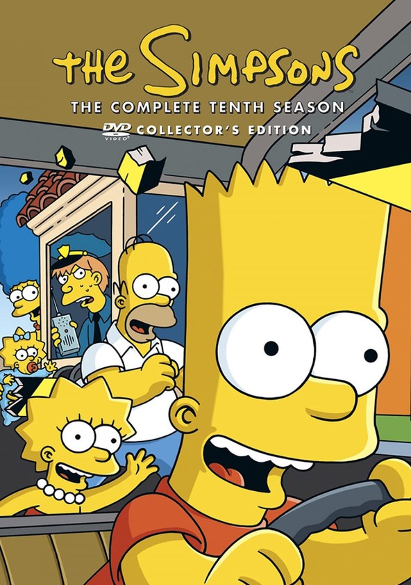 The Simpsons Season 10 poster