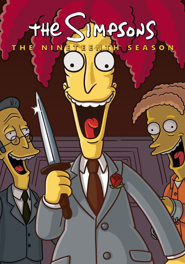 The Simpsons Season 19 poster