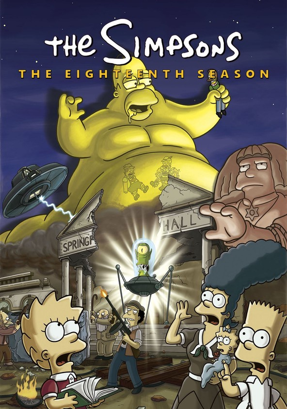 The Simpsons Season 18 poster