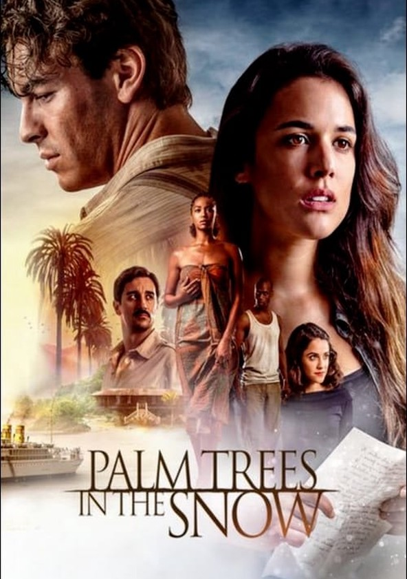 Palm Trees in the Snow poster